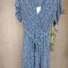 Vestido floral con escote cruzado